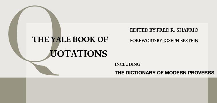 SHAPIRO-yale-book-of-quotations